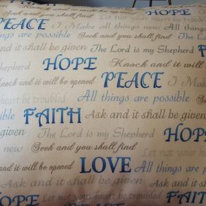 Hope Faith Pillow